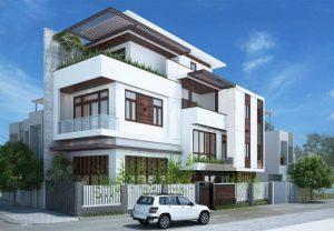 Thiết kế nhà phố căn góc 2 mặt tiền