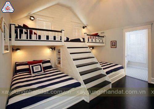 kinh nghiệm khi thiết ké giường tầng cho bé