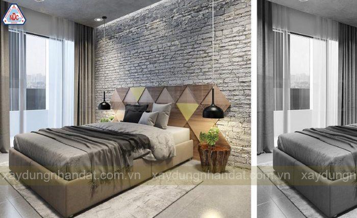 ý tưởng thiết kế phòng ngủ màu xám