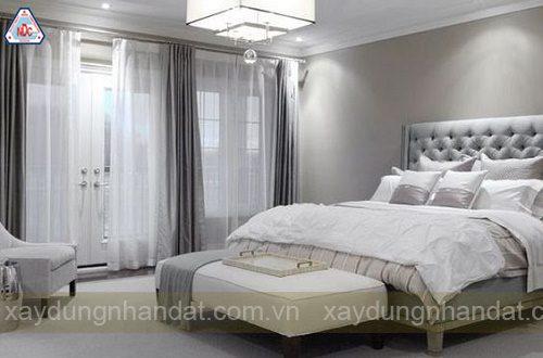 trang trí phòng ngủ màu xám