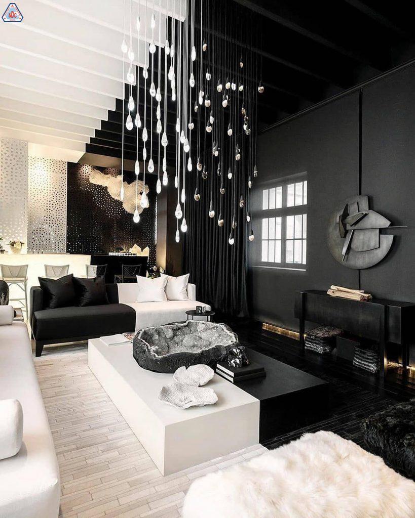 Ngôi nhà 2 màu đen trắng