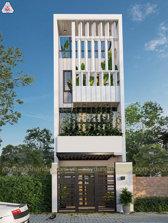thiết kế ngoại thất nhà phố