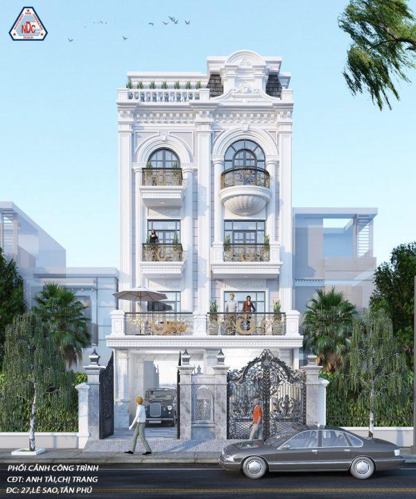 Biệt thự tân cổ điển đẹp quận Tân Phú – Công ty thiết kế xây dựng Nhân Đạt